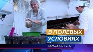 В Шимске для туристов заработала солдатская кухня с мастер-классом по выпечке хлеба