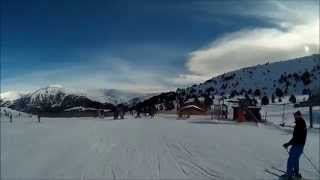 preview picture of video 'Skiing from Soldeu to Grau Roig, 28/01/2015'