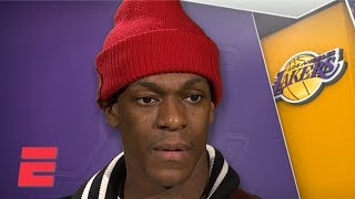 NBA Trade Deadline Is Water Under The Bridge For Lakers   Rajon Rondo | NBA Interview