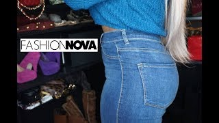 My First Pair Of Jeans + Sweater From Fashion Nova.com size 15