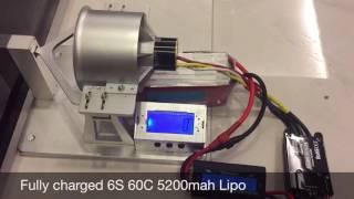 Freewing 90mm 12 blade metal Edf 4068-1680kv bench test