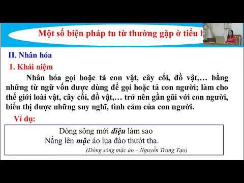 Tiếng Việt 4 - Một số các biện pháp tu từ - Lương Thị Thanh Hiền - Trường TH Hồng Thái Tuyên Quang