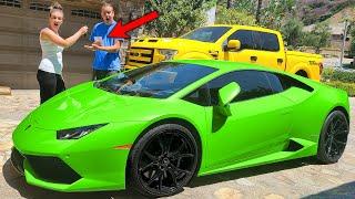 A Fan Sent Us a Lamborghini!!! Buying My Husband His Dream Car!