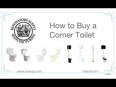 video image. Compact Corner Toilet for Small Bathroom Top Dual Flush  Water