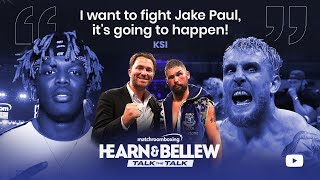 On the latest episode of #TalkTheTalk KSI tells Eddie Hearn and Tony Bellew a fight with Jake Paul will happen and when it does it'll be the end of YouTube boxing. Watch the full episode here: https://youtu.be/VTlYTJD3Heg #KSI #JakePaul