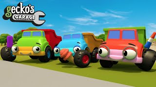 Baby Dumper Trucks And Diggers   Educational Videos For Toddlers   Geckos Garage   Trucks For Kids