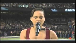 Alicia Keys: The National Anthem at Superbowl 47