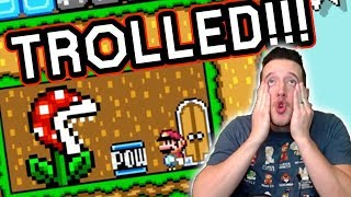 Mayro Made Me ANOTHER Painful Troll Level in Mario Maker...