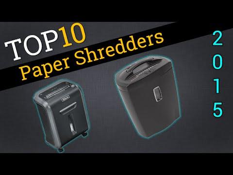 Top Ten Paper Shredders 2015 | Best Paper Shredder Review