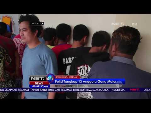 Di Semarang Polisi Tangkap 13 Anggota Geng Motor - NET 24
