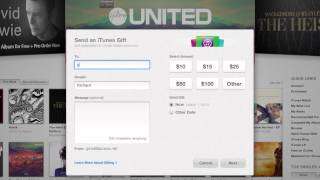 How to buy an iTunes Gift Card from iTunes - (short version)