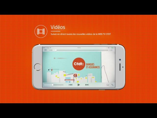 Vidéo de présentation de l'application mobile