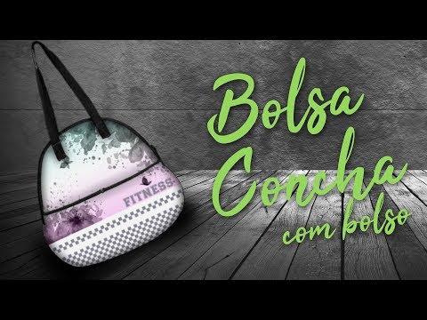 Bolsa Concha Fitness com Bolso Personalizada para Brinde Corporativo