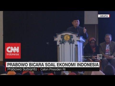 Prabowo Bicara Realitas Ekonomi Indonesia