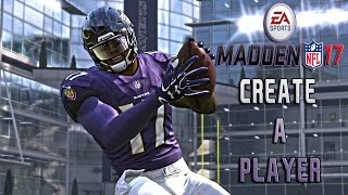 MADDEN NFL | 17 CREATE A PLAYER | 1080p 60fps