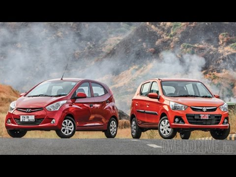Hyundai Eon 1.0 vs 2015 Maruti Suzuki Alto K10 in India