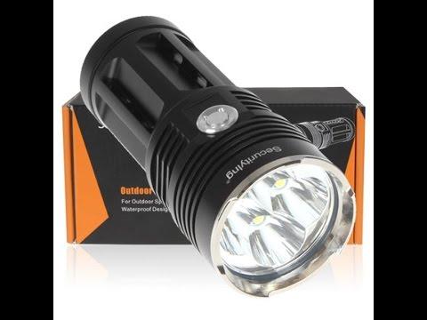 Securitying 5400 Lumens 4 x CREE XM-L T6 LED Flashlight Thorough Review Part #1