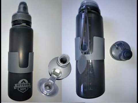 Faltbare Trinkflasche aus Silikon