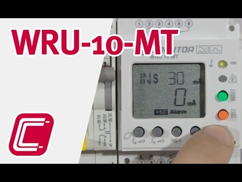 WRU-10 MT: Relé diferencial con transformador incorporado con display