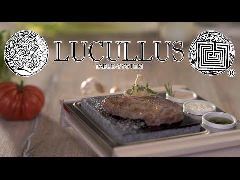 """Heißer Stein - Essen auf der Lucullus-Tafel """"Weltneuheit"""" / Garen, Grillen und Schlemmen"""