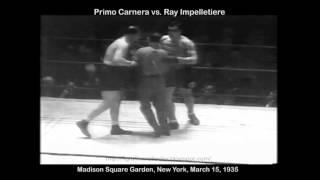 """Primo """"Man Mountain"""" Carnera vs. Ray """"Skyscarper"""" Impelletiere March 16, 1935"""