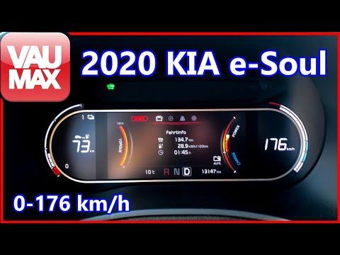 2020 KIA e-Soul 150kW /64 kWh Beschleunigung 0-100 km/h | Tachovideo | Acceleration 0-60 mph