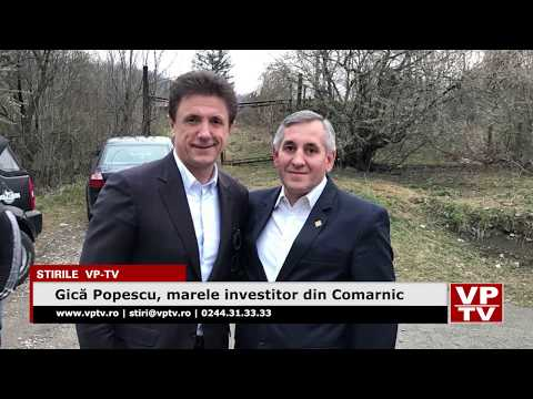 Gică Popescu, marele investitor din Comarnic