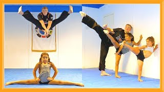 Training with My Girls | Taekwondo Kicks & Flips | Father Daughters Day