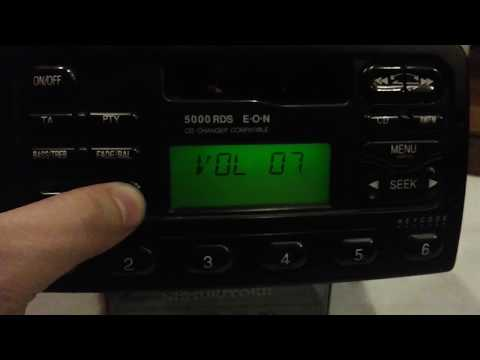 Ford 5000 6000 4500 RDS eon HOW TO reset locked13,enter code