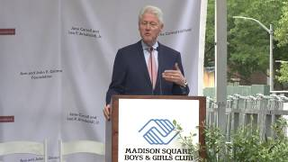 President Clinton Speaks at The Pinkerton Clubhouse Groundbreaking