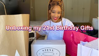 UNBOXING MY 21st BIRTHDAY GIFTS || SOUTH AFRICAN YOUTUBER || Zennie Booi