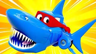 Tuần lễ cá mập đặc biệt - Siêu xe tải hóa thành xe tải cá mập để đóng phim - Siêu xe tải Carl 🚚