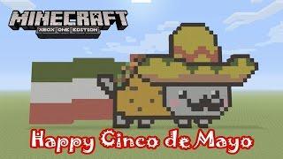 Minecraft: Pixel Art Tutorial And Showcase: Taco Nyan Cat (Happy Cinco De  Mayo