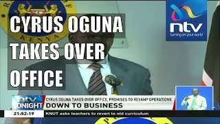 Colonel (Rtd) Cyrus Oguna first address as government spokesman