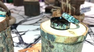 Camo Rings Set. Camouflage Wedding