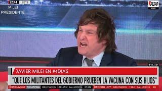 «NO a la vacuna obligatoria» Brillante Javier Milei en A24- 24/11/20