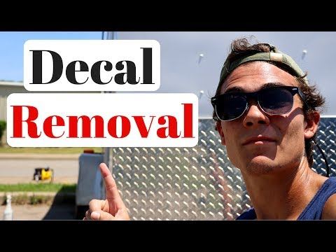 How To Remove Trailer Decals