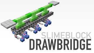 Top 15 redstone slimeblock minecraft creations showcase most minecraft instant slime block drawbridge tutorial ccuart Image collections