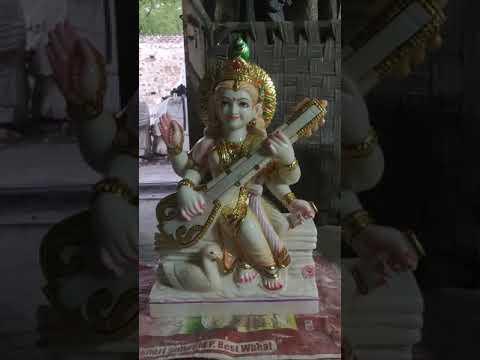 Marble Sarswati Statue