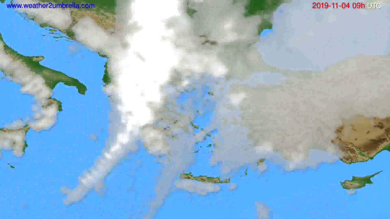 Cloud forecast Greece // modelrun: 00h UTC 2019-11-03