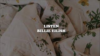 Listen  Billie Eilish [lyrics]