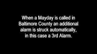 Baltimore County (Reisterstown) MD Fatal 3 Alarm Fire With Mayday Radio Traffic