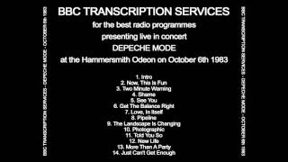 Intro + Now This Is Fun - Depeche Mode (Live in Hammersmith Odeon 06-10-1983)