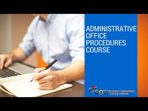 Administrative Office Procedures Course - YouTube