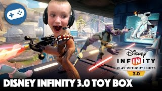 Disney Infinity 3.0 Toy Box Gameplay - Star Wars With Luke Skywalker Vs. Darth Vader