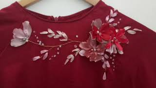 120-D.I.Y Ribbon Handmade Flowers /Hướng Dẫn Làm Hoa Trang Trí áo Dài (phần 4)