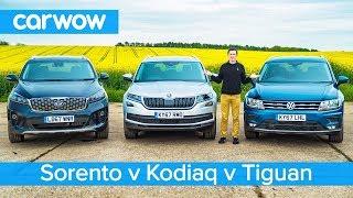 VW Tiguan-Allspace vs Skoda Kodiaq vs Kia Sorento - Which is the best 7-seater SUV?