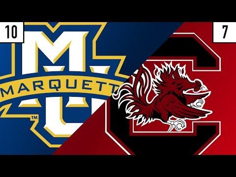 10 Marquette vs. 7 South Carolina Team Prediction | Who's Got Next?