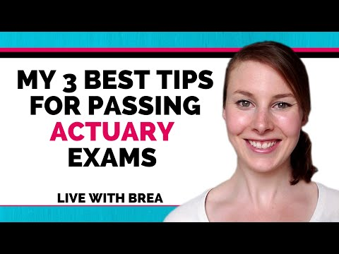 How to Pass Actuarial Exams (Exam P & FM) - Live Training ...