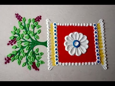 simple rangoli design tulsi by kshirabdhi tanaya panda